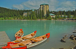4 jezioro Alberta Canada Louise Obraz Stock