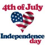 4 juillet Image libre de droits