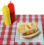 4 juillet, Jour de la Déclaration d'Indépendance, hot-dog Photos stock