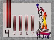 4 julho ilustração stock