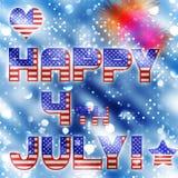 4 juli bokeh vieringsvector Royalty-vrije Stock Afbeeldingen