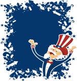 4. Juli-Feier mit Uncle Sam Stockbilder