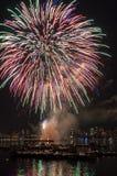 4. Juli-Feuerwerke Stockbild