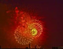 4. Juli-Feuerwerke--Nationaler Mall, Washington, Gleichstrom lizenzfreie stockfotografie