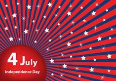 4. Juli-Unabhängigkeitstaghintergrund Stockfotos