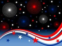 4 juli vuurwerk Royalty-vrije Stock Afbeeldingen