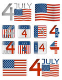 4 july Royalty Free Stock Photography