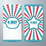 4 july card template Stock Photos