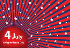 4 July independence day background. American flag background colors with stars and stripes symbolizing 4th july independence day royalty free illustration