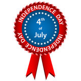 4 july independence day rosette Royalty Free Stock Photos
