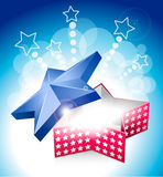 4 july star box with stars Stock Image