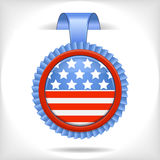 The 4 july vector  label Stock Photos
