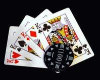 4 Könige und eine Wette Lizenzfreie Stockfotos