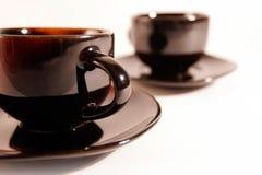 4 kaffekopp Fotografering för Bildbyråer