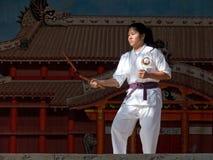 4 karate poza Zdjęcie Stock
