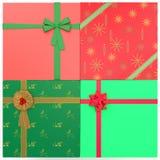 4 Kerstmis stelt voor Royalty-vrije Stock Fotografie
