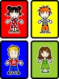 4 Kids. Four different kids, 2 boy 2 girl Royalty Free Stock Image