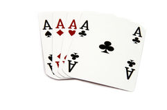 4 of a Kind - Aces Royalty Free Stock Photos