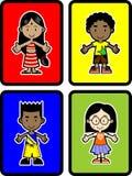 4 Kinder Lizenzfreie Stockfotos