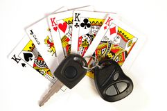 4 Kings & Joker. Playing cards. Four kings and joker Royalty Free Stock Images