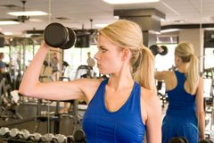 4 kobieta weightlifter Zdjęcia Stock
