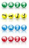 4 kolorów ikony modlitwa Obrazy Stock