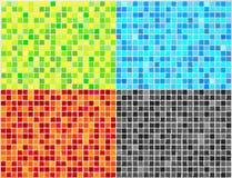 4 kolorów mozaiki płytki wektora Obrazy Stock