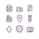 4 koloru konturowa ikon sieć Fotografia Royalty Free