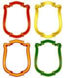 4 koloru sztandarów crest Zdjęcia Royalty Free