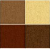 4 koloru texture drewnianego Obraz Royalty Free