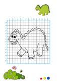 4 kolorystyka książkowy dinosaur Fotografia Stock