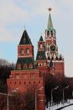 4 Kontrolltürme Moskau Kremlin Stockfoto