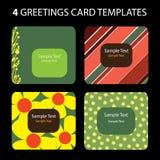 4 kort som greeting vektor illustrationer