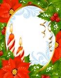 4 kortjul som greeting nytt år Royaltyfria Foton