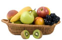 4 koszy owoców Obrazy Royalty Free