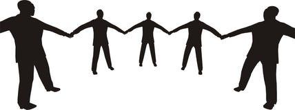 4 kręgu biznesu ludzi royalty ilustracja
