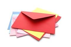 4 kuvert Fotografering för Bildbyråer