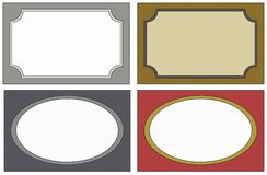4  labels colors Royalty Free Stock Images