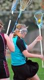 4 lacrosse gracza Obrazy Royalty Free