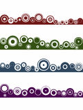 4 Landscape circle elements. 4 Landscape elements - Circles (Grouped for easy use and coloring Royalty Free Stock Image