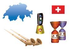 4 landsserie switzerland royaltyfri illustrationer