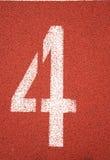 #4 lane mark royalty free stock image
