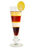 4 layered cocktail. Isolated on a white background Stock Photo