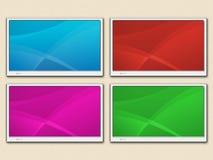 4 lcd Fernsehapparat Stockfotos