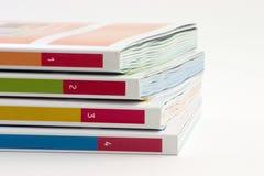 4 libros Foto de archivo