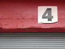 4 liczby Fotografia Stock