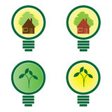 4 Light Bulb - environmental illustration Royalty Free Stock Photography