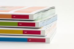 4 livres photo stock