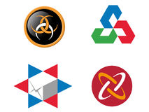 4 logo elements. That can be used for company branding Stock Photo