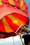 4 lotniczych muchy baloon człowiek gorącego przygotowania Fotografia Royalty Free